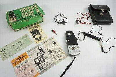 Vintage Sperry Snap 5 6 Voltohm Ammeter Complete With Original Booklet