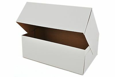 10 X 6.5 X 3.5 White Paperboard Auto-popup Bakery Box - 15 Pieces