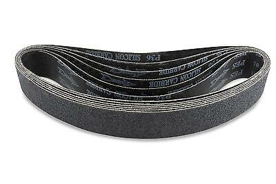 2 X 42 Inch 40 Grit Silicon Carbide Sanding Belts 6 Pack