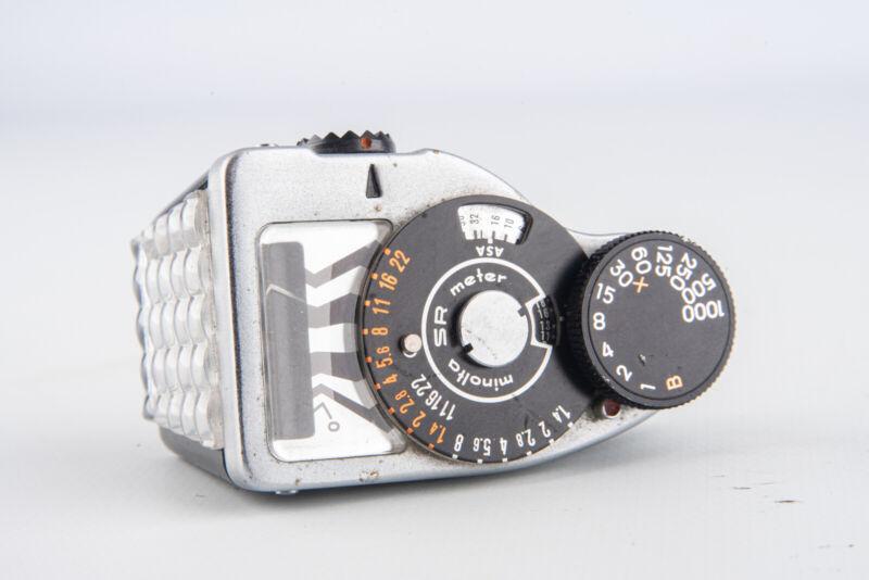 Minolta Selenium Exposure Light Meter 1 for SR Series Cameras TESTED AND WORKING