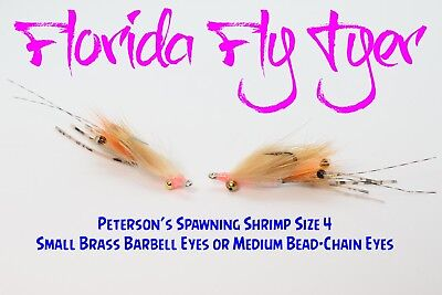 Petersons Spawning Shrimp Bonefish (6 Flies) Size 4 - Gamakatsu SL11-3H -