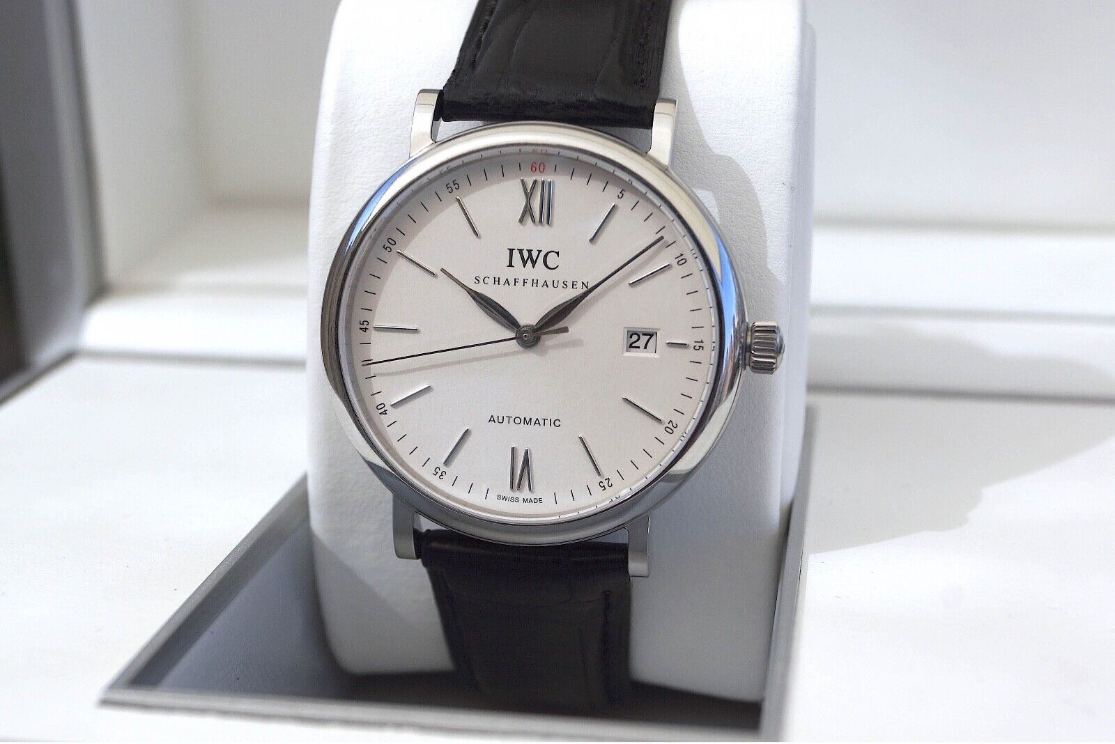 NEW IN THE BOX— 40MM IWC PORTOFINO AUTOMATIC REF. 356501— CAL.35111—ALL ORIGINAL - watch picture 1