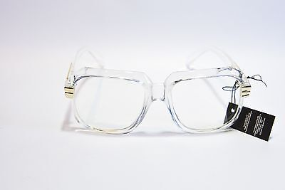 ZEROUV OVERSIZED RETRO 80S CLEAR LENS SUNGLASSES CLEAR/GOLD FRAME (Zerouv Clear Frames)