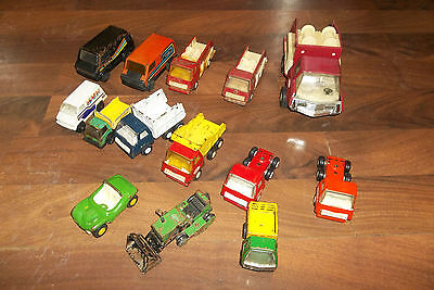 Vintage Tonka Buddy L Pressed Steel Truck Lot!! Fire Dump Trucks Tractor Vans