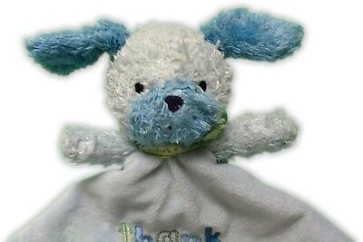 Child Of Mine Thank Heaven For Little Boys Puppy Dog Security Blanket Lovey Blue