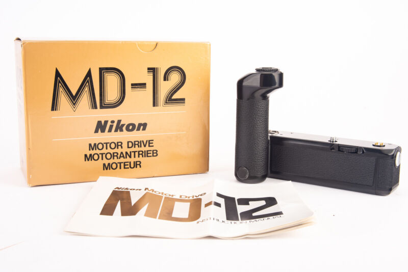 Nikon MD-12 Motor Drive for FM3A FM2 FM2N FE2 FA Cameras Near Mint in Box V15