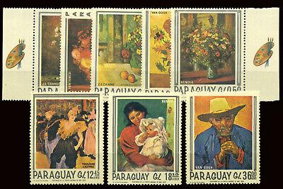 PARAGUAY 1968 COMPLETE SET (Mi. 1729-36) **