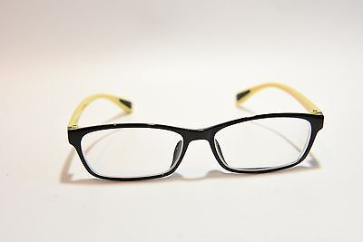 GOGGLES4U FUN SPORTY DESIGN PLASTIC EYEGLASS FRAMES BLACK YELLOW 50-16-131 NEW](Fun Frames)