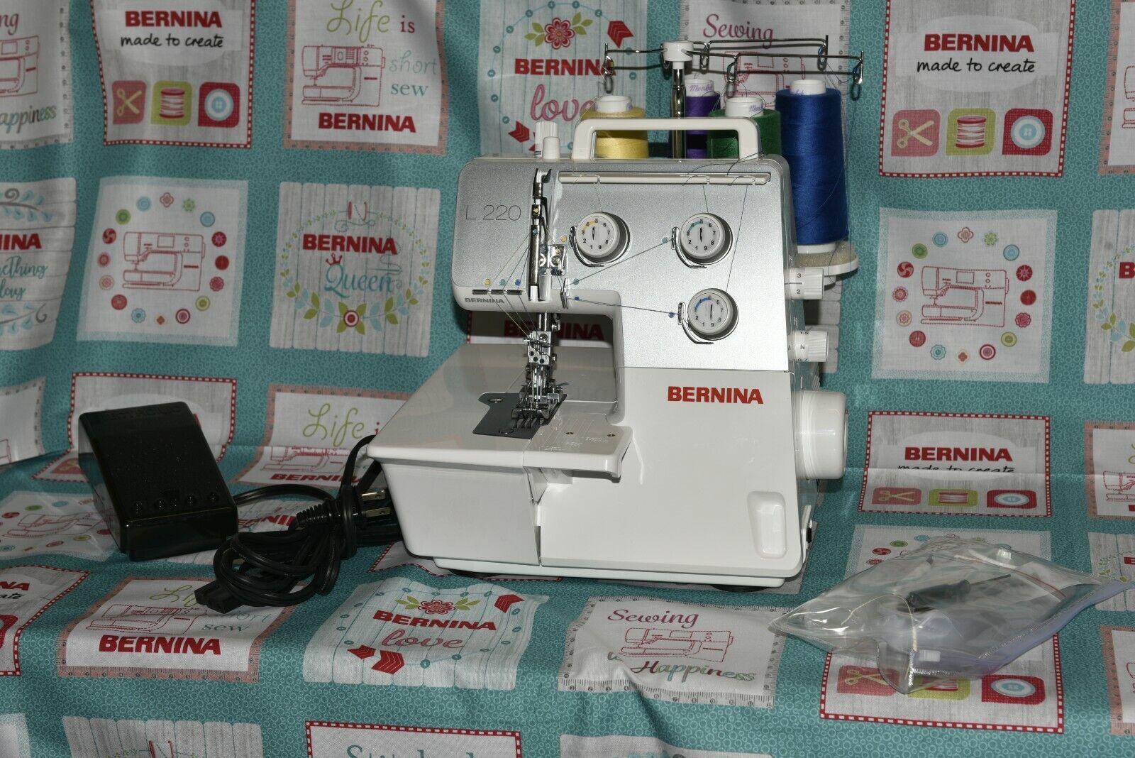 Bernina L220 Serger Cover-Chain and Stitch 1, 2 , 3, nee