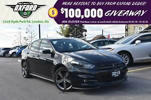 2015 Dodge Dart GT - One Owner, GPS, Heated Seats, Sunroof