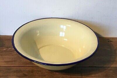 original french vintage enamel bowl