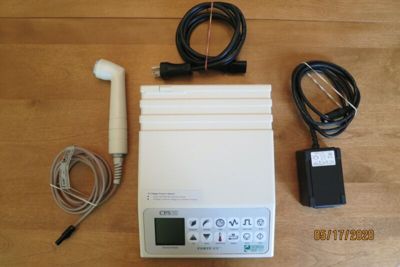 Chattanooga Forte US CPS Series Ultrasound w/2 CM Head - touchpad selections!