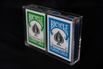 Card Deck Case (Carat X2 Card Case For 2 Playing Card Decks - Strong Clear Acrylic Magnetic)