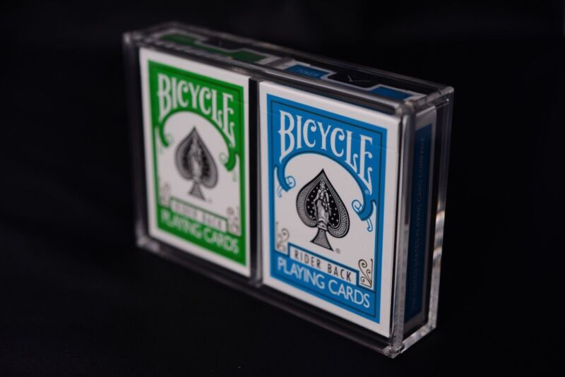 Carat X2 Card Case For 2 Playing Card Decks - Strong Clear Acrylic Magnetic Seal