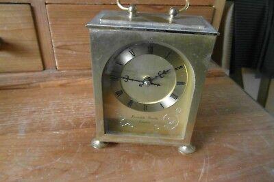 metal cased quartz carriage clock  h samuel