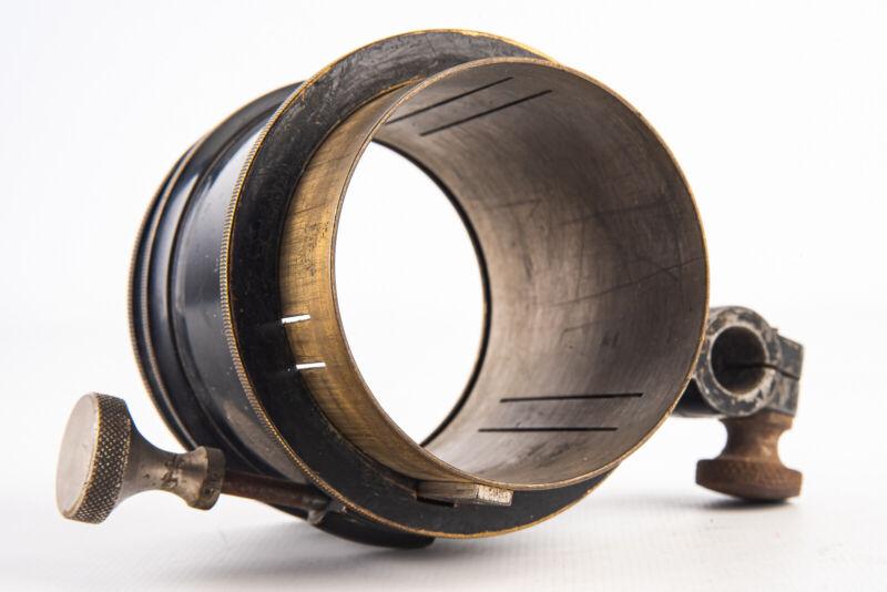 Vintage Movie Projector Lens Slide In Holder Clamp And Focusing Unit V19