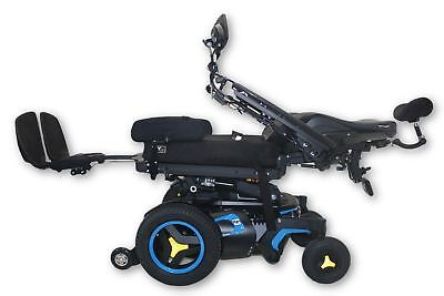 "Blue Permobil F3 Electric Power Wheelchair 2017   Tilt, Recline, Legs   20""x19"""