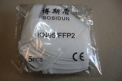 5 Stück Atemschutzmaske FFP2 / N95 Mundschutz Schutzmaske Hypoallerg. Mundschutz
