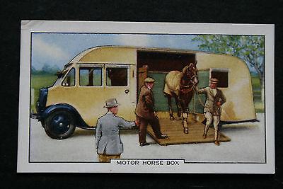 Motor Horse Box  Original 1930's Vintage Illustrated Card  VGC