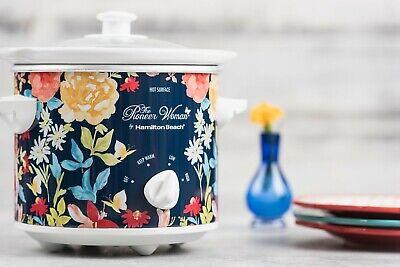 Pioneer Woman 1.5 Qt Vintage Floral Slow Cooker Crock Pot  Hamilton Beach