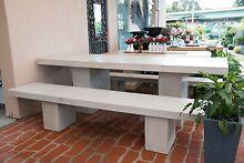 GRC Outdoor Garden Patio Furniture Rectangle Table Setting Stone Fairy Meadow Wollongong Area Preview