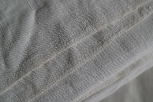 ANTIQUE French Linen sheet. HANDWORKED HANDLOOMED HOMESPUN SLUBBY LINEN R54
