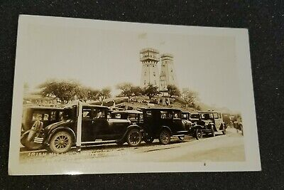 VINTAGE IRISH HILLS TOWERS US ROUTE 112 SOUTHERN MICHIGAN AZO POSTCARD UNPOSTED