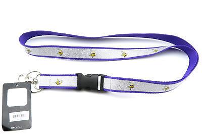 MINNESOTA VIKINGS NFL Football Official Licensed Sparkle Lanyard Key Chain - Football Lanyards
