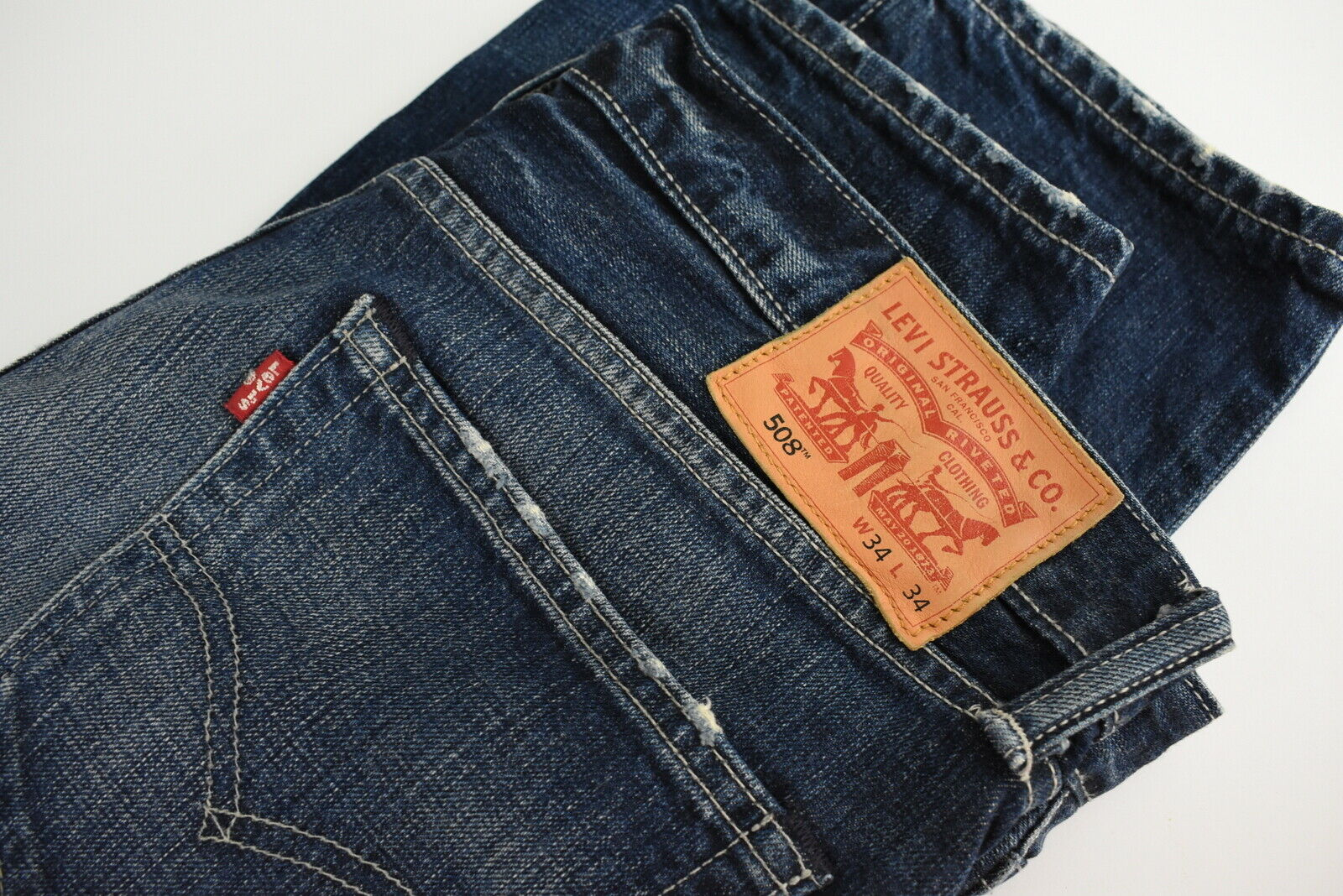 Levi strauss & co.508 homme w34/l34 slim straight fit fade effet jean 28313_s