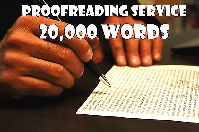 Proofreading Service for Written Content - 20000 Words - Edit Grammar & Spelling
