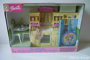 decor collection barbie b6273 coffret cuisine new sealed