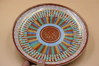 Antique Japanese Porcelain Hand Painted Plate - Marks