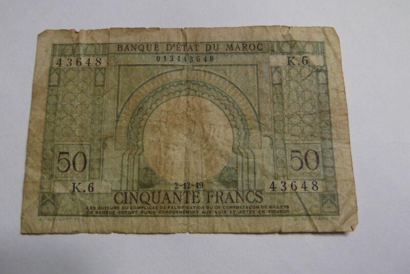 1949 MOROCCO 50 FRANCS
