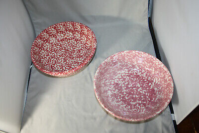 Roseville Workshops of Gerald E. Henn Red, Cranberry , Rose, 2 QT. Bowl