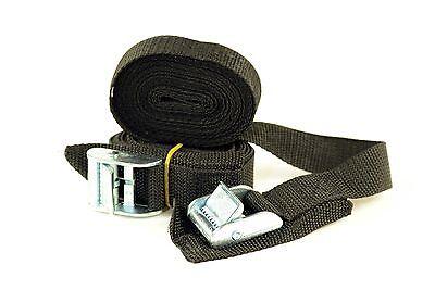 Ruk Sport Tie Down Roof Rack Basic with Buckles Straps Pair 3 Meters Length ()