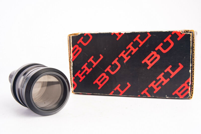"""Buhl Optical Co 1.2"""" to 1.8"""" f/1.6 Projector Projection Lens Cat # 772-400 V19"""