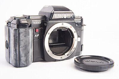 Minolta Maxxum 7000 35mm SLR Film Camera Body With Cap A Mount TESTED V17 - $39.99