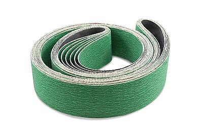 2 X 60 Inch 80 Grit Metal Grinding Zirconia Sanding Belts 6 Pack