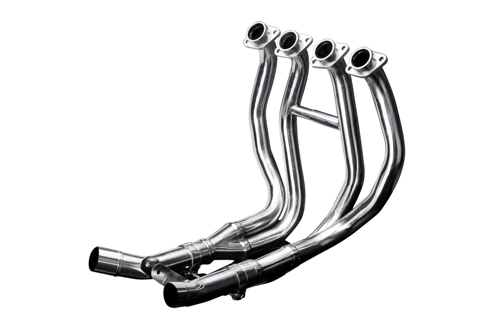 1984-1985 Delkevic Aftermarket Stainless Steel 4-2 Headers and Collector Box compatible with Yamaha FJ1100