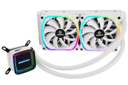 Enermax AQUAFUSION 240 ARGB All-in-One CPU Liquid Cooler - White (Open Box)