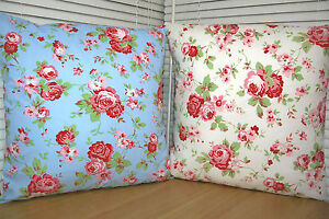 cath kidston ikea rosali white blue cushion covers 16 x16 14 ebay. Black Bedroom Furniture Sets. Home Design Ideas