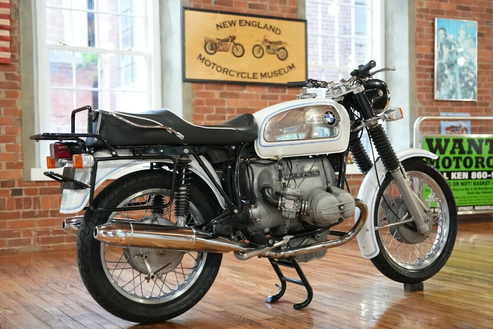 1972 BMW R75/5 Gorgeous Classic Toaster Tank In the Original Factory White Paint