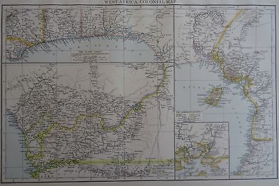 Victorian Map 1896 of WEST AFRICA The Times Atlas 1st Gen