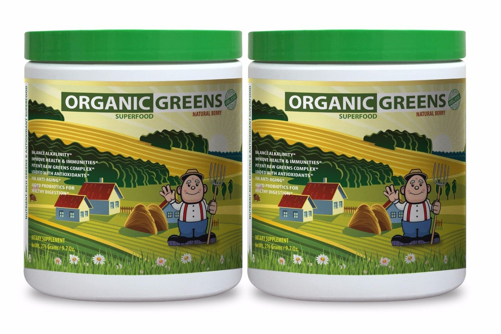 Vegetable Seeds - Organic Greens Powder Berry 552g - Prod...