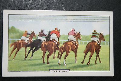 Horse Racing Start Tapes   Original 1930's Vintage Card ## VGC
