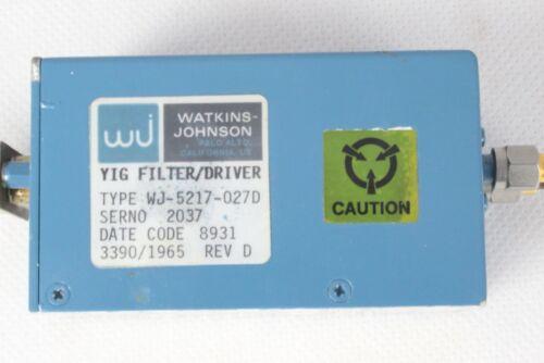 Filter YIG Watkins Johnson WJ-5217-027D
