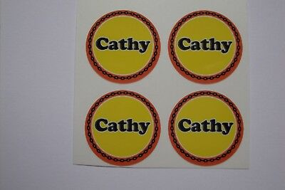 "Cathy 16  CROWN GREEN STICKERS  1""  LAWN BOWLS FLATGREEN  AND INDOOR BOWLS"
