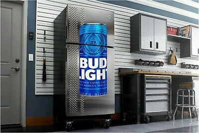 Bud Light Bud Beer flathead wall sticker 4' dorm room man cave refrigerator