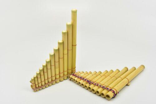 13 Pipe Peruvian Bamboo Pan Flute Medium Six x Five Inches Artisan Made Original