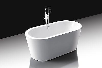 Randers Oval White Acrylic Soaker Bath Tub Freestanding Bathtub New ()